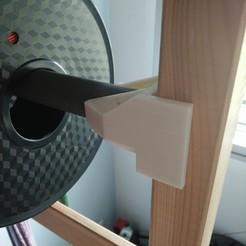 Télécharger plan imprimante 3D gatuit Support de bobine pour l'étagère Ikea Ivar, farnix