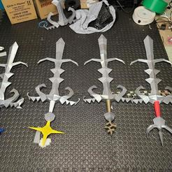 kf3RWqn.jpg Download STL file Old School Runescape Life Sized Godsword + Keychains • 3D printing design, Wychu