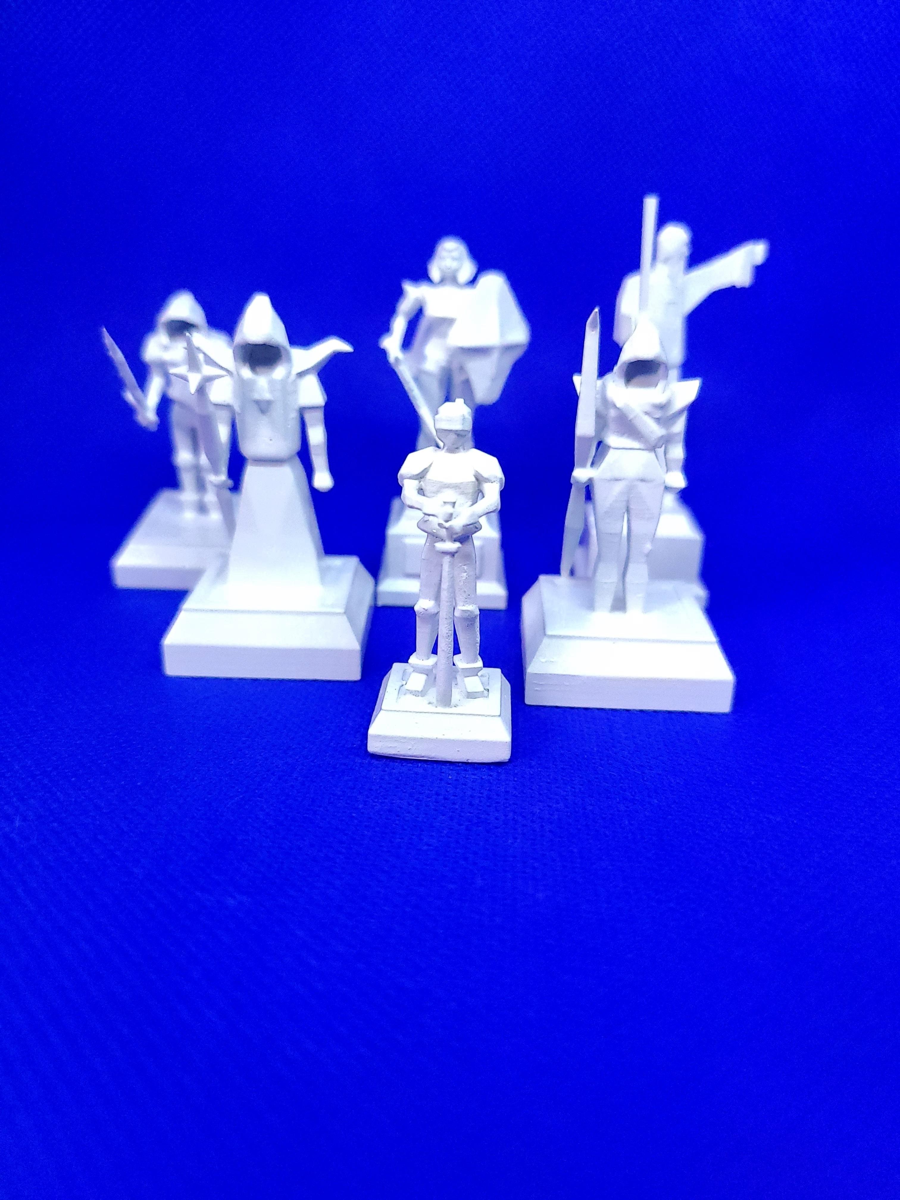 20201015_182345 - Copy.jpg Download STL file OSRS Chess Set Old School Runescape Mini Figures  • Model to 3D print, Wychu
