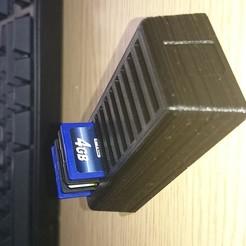Télécharger fichier STL gratuit Titulaire de la carte SD • Objet à imprimer en 3D, chrismveng