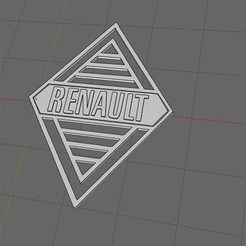Download free 3D printer templates Renault Logos 1925 - 1959, Tviolle