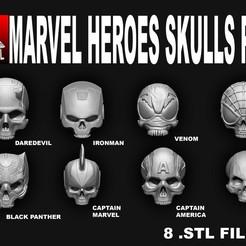 Impresiones 3D MARVEL HEROES SKULL PACK, SKULLHILL