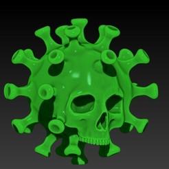 Descargar diseños 3D COVID-19 SKULL, SKULLHILL
