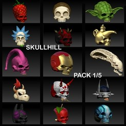 Download 3D printer model PACK 1/5 SKULLHILL, SKULLHILL