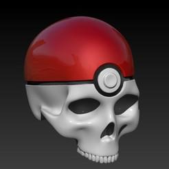 Descargar archivos 3D gratis POKEBALL SKULL, SKULLHILL