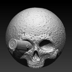 Descargar modelo 3D moon skull, SKULLHILL