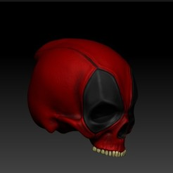 Download STL files DEADPOOL SKULL, SKULLHILL