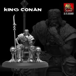Télécharger fichier 3D Le roi Conan, SKULLHILL