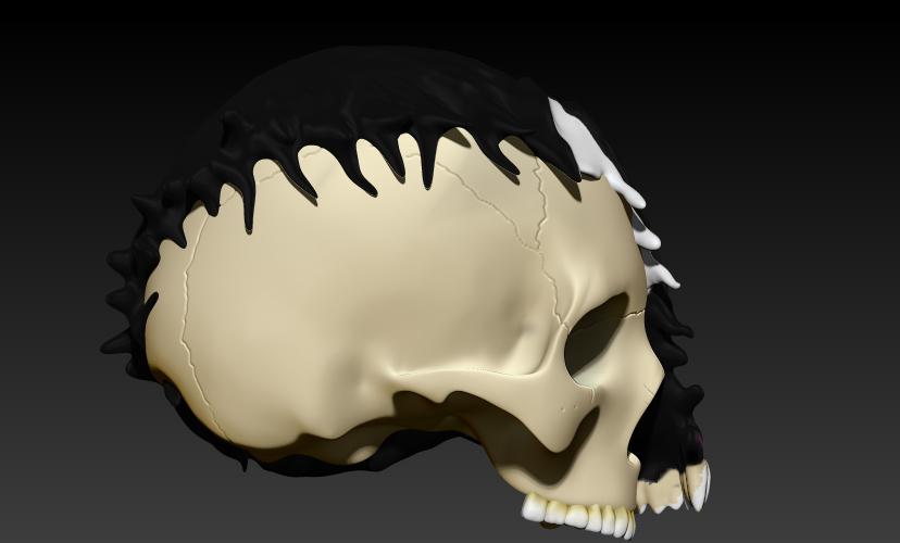 5.jpg Download STL file VENOM SKULL V2 • Model to 3D print, SKULLHILL