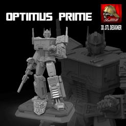 PORTADA-OPTIMUS.png Download STL file optimus prime figure • 3D printing template, SKULLHILL