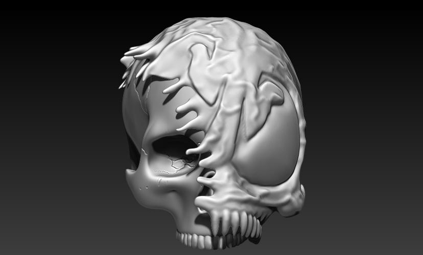 7.jpg Download STL file VENOM SKULL V2 • Model to 3D print, SKULLHILL