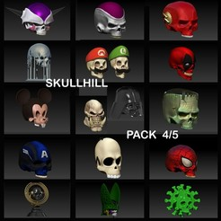 Download STL file PACK 4/5 SKULLHILL, SKULLHILL