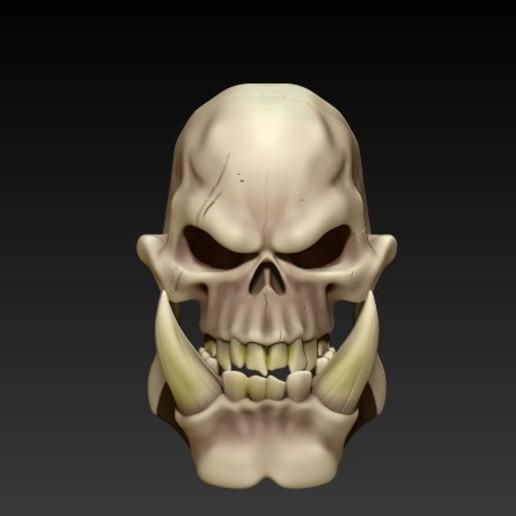 Download 3D Printer Templates ORC SKULL ・ Cults