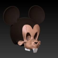 Imprimir en 3D MICKEY MOUSE SKULL, SKULLHILL