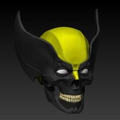 Imprimir en 3D wolverine skull V2, SKULLHILL
