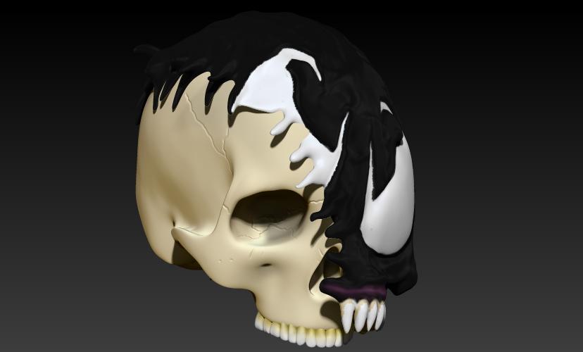 9.jpg Download STL file VENOM SKULL V2 • Model to 3D print, SKULLHILL