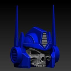 Descargar STL optimus prime skull, SKULLHILL