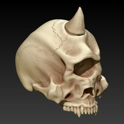 7.jpg Download STL file CYCLOP SKULL • 3D print design, SKULLHILL