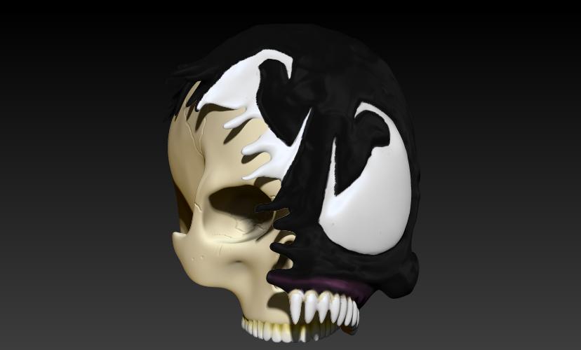 6.jpg Download STL file VENOM SKULL V2 • Model to 3D print, SKULLHILL