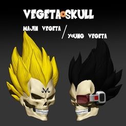 Download STL file vegeta skull set dragon ball z • 3D printer template, SKULLHILL