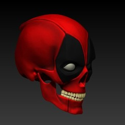 Descargar archivo 3D DEADPOOL SKULL V2, SKULLHILL
