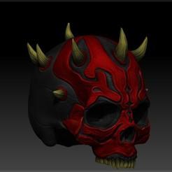 Download STL file DARTH MAUL SKULL • 3D printable template, SKULLHILL
