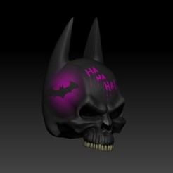 Descargar archivos STL batman skull, jmbs1212