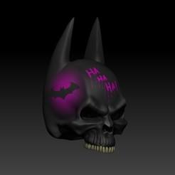 Download STL file batman skull • Template to 3D print, SKULLHILL