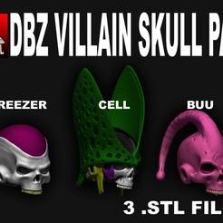 Sin-título-1.jpg Télécharger fichier STL DGZ VILLAINS SKULL PACK • Modèle pour imprimante 3D, SKULLHILL