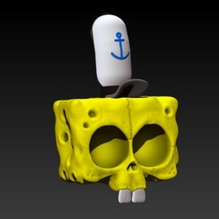 1.jpg Télécharger fichier STL CRÂNE DE BOB ÉPONGE • Objet imprimable en 3D, SKULLHILL
