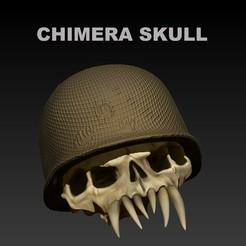 PORTADA.jpg Download STL file CHIMERA SKULL (RESISTANCE) • 3D printable object, SKULLHILL