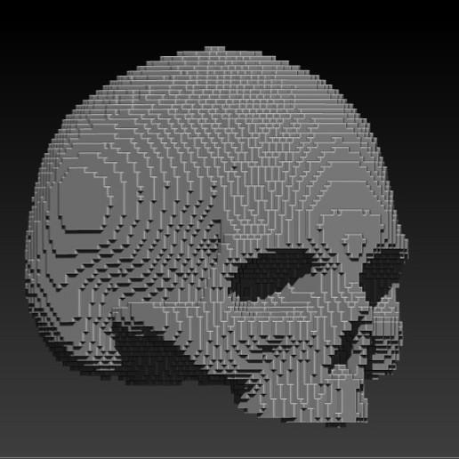 Download free STL file pixelart skull • 3D print model, SKULLHILL