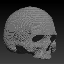 Download free STL file pixelart skull • 3D print model, SKULLHILL