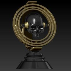 Descargar archivos STL gyroscope skull, SKULLHILL