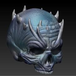 7.jpg Download STL file NIGHT KING SKULL • Template to 3D print, SKULLHILL