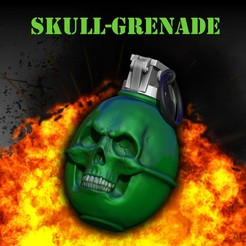 Descargar archivo 3D SKULL GRENADE, SKULLHILL