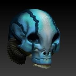 Descargar archivo 3D Abe Sapiens skull from hell boy, SKULLHILL