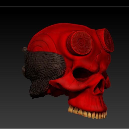 Download 3D printer model HELLBOY SKULL, SKULLHILL