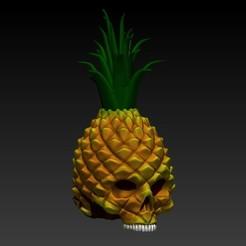 Descargar STL pineapple skull, SKULLHILL