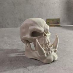Download STL file ORC SKULL • 3D print object, SKULLHILL
