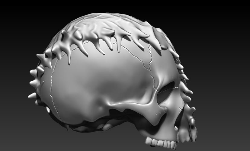 4.jpg Download STL file VENOM SKULL V2 • Model to 3D print, SKULLHILL