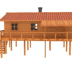 Download 3D model wooden house, sinajoinw8526