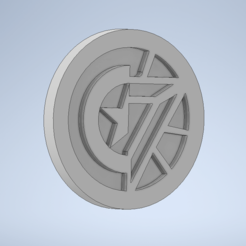 inventor image.PNG Download free STL file Marvel Civil War Truce Token • 3D printing template, Stebo18