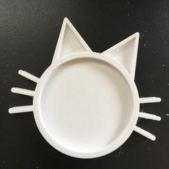thumbnail_IMG_9381.jpg Download free STL file Cat Coaster • 3D printable template, Stebo18