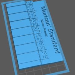Download free 3D printer designs 32mm Heroic Scale Miniature Measuring Tool Printable, williamjarrett2