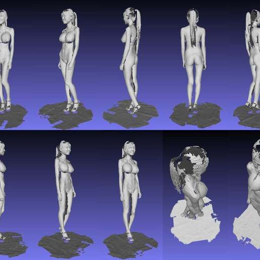 MeshLab.jpg Download free OBJ file 3D body-scan (structured light) • 3D printing object, SexyCyborg