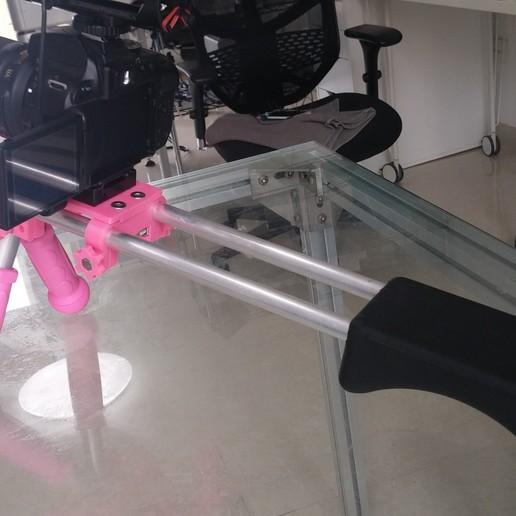 Download free STL file DSLR Shoulder Rig (15mm Rail) Remix • 3D printing design, SexyCyborg