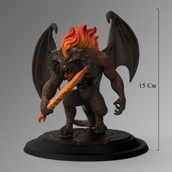 Download 3D printer designs Balrog Stylized 3D Print Model 3D print model, Paddyy