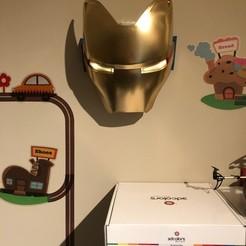 Descargar STL gratis La placa frontal de Iron Man Mk50 se ilumina, itonystark