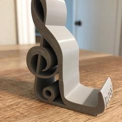 Descargar modelo 3D Nota musical Soporte para teléfono de clave de sol, vladimirv